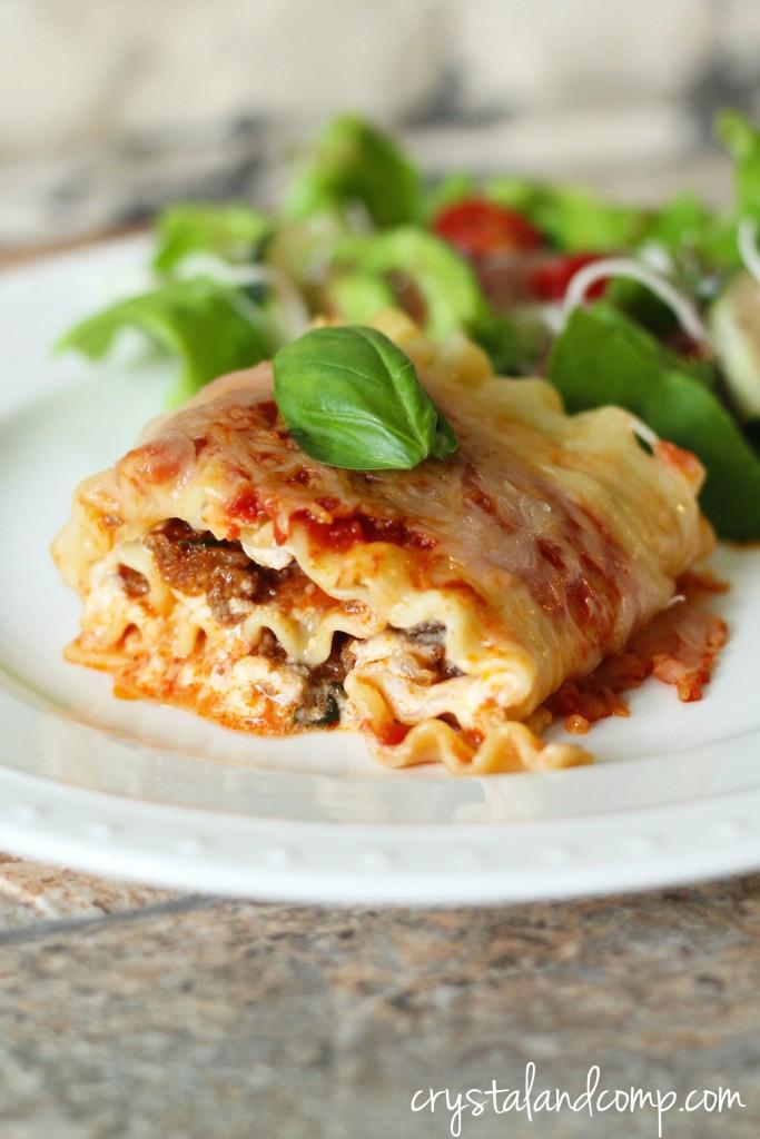 lasagna roll ups easy recipe