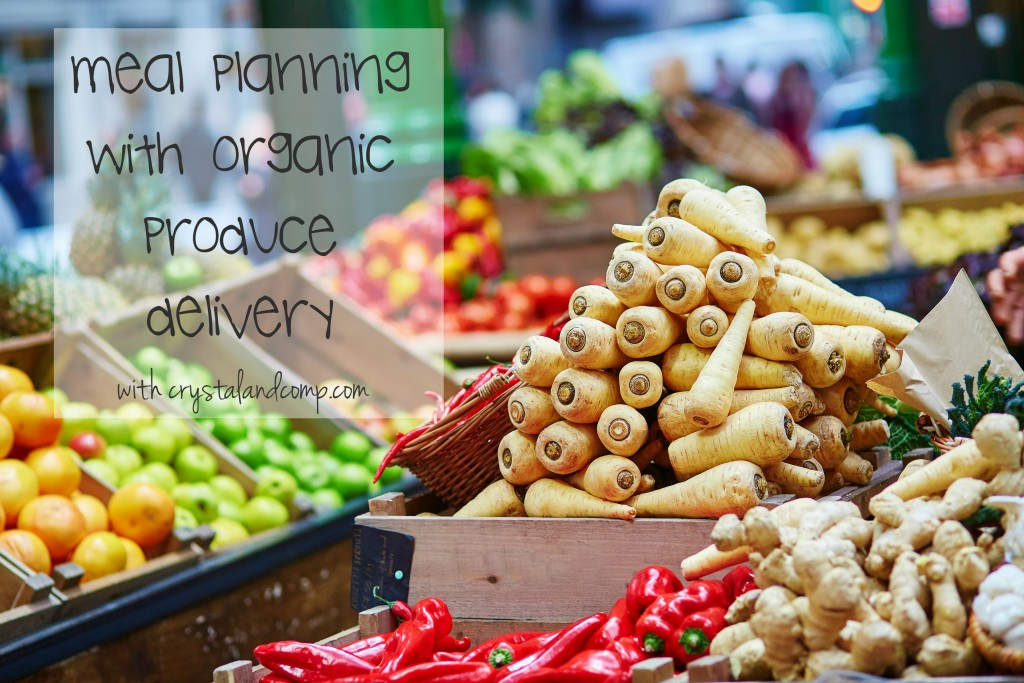 meal planning with organic produce delivery