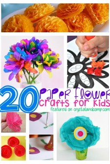 20 Awesome Paper Flower Crafts for Kids