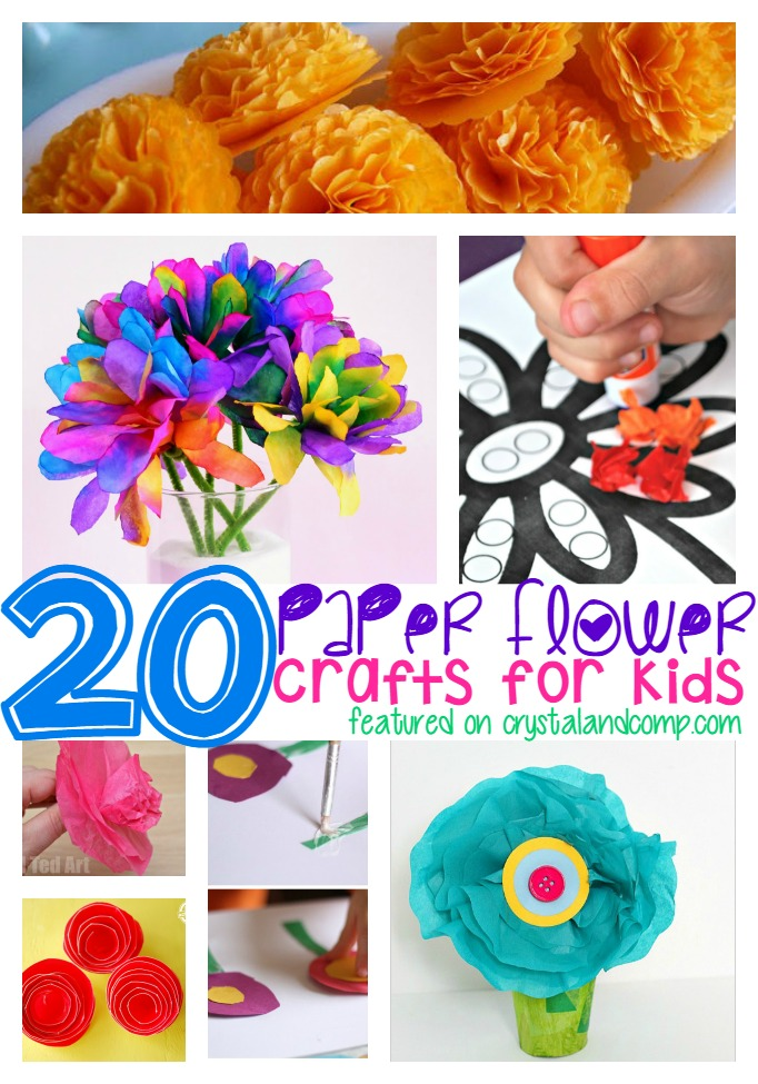 20 paper flower crafts