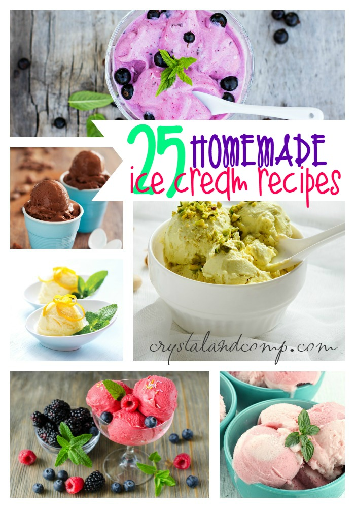 25 homemade ice cream recipes