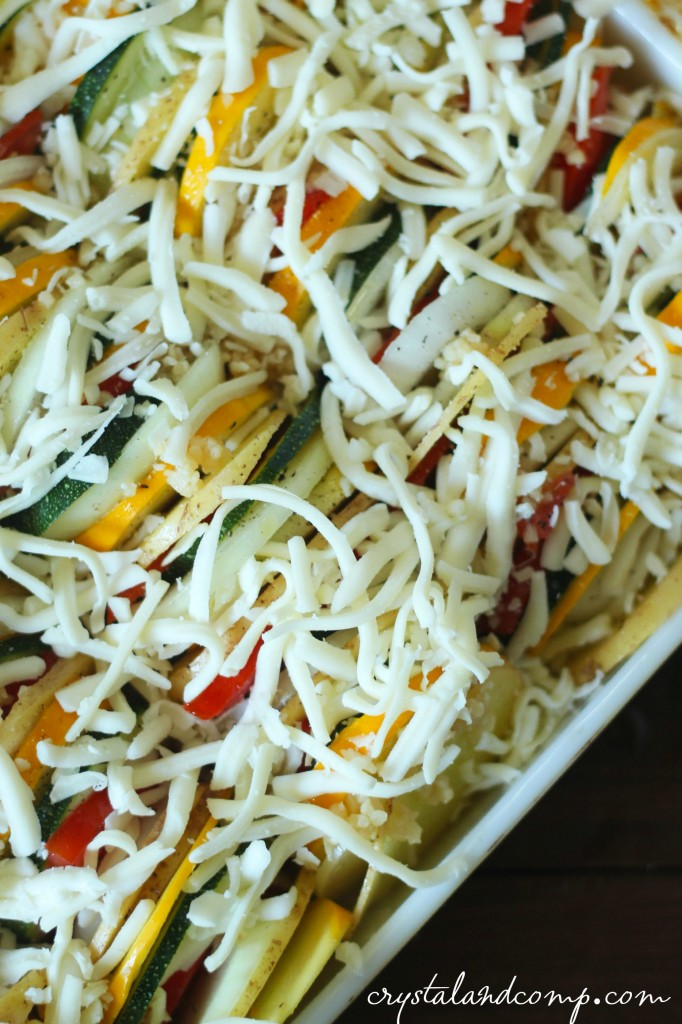 cheesy squash potato bake
