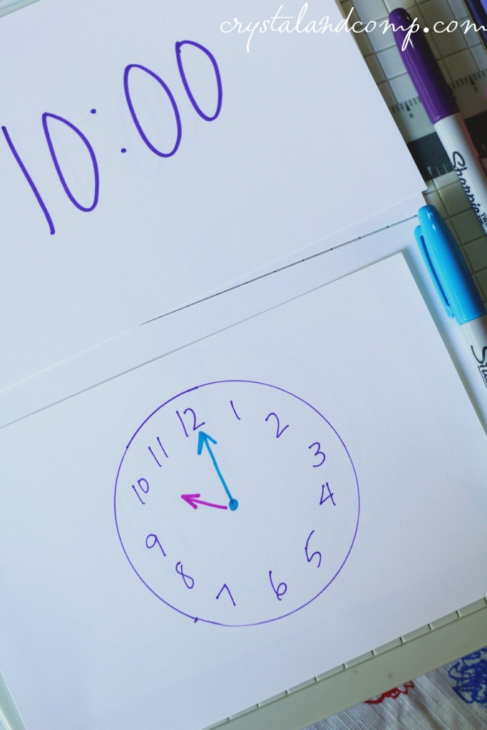 clock and time telling flashcards