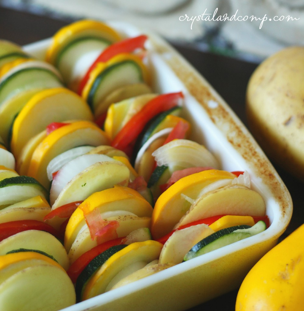 easiest ever summer vegetable bake