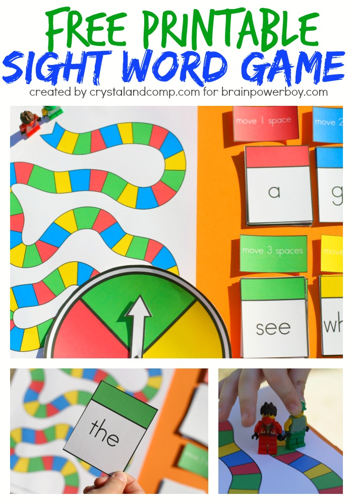 Free Printable Sight Word Game Perfect forBoys