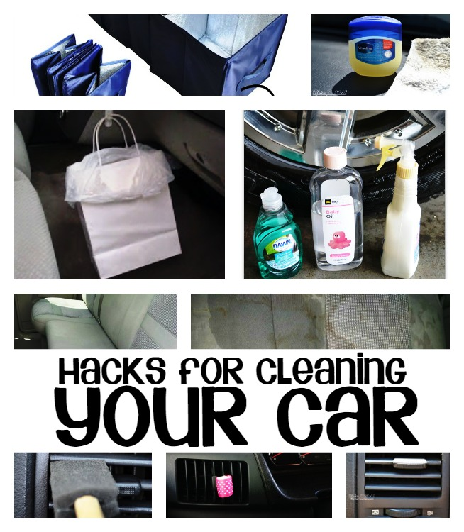 HACKS FOR CLEANING YOUR CAR