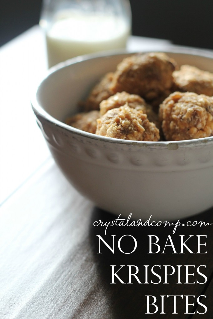 no bake krispies bites