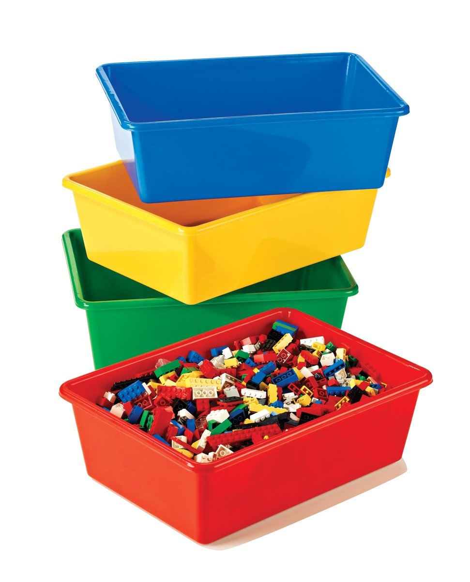Storage Bins In Primary Colors