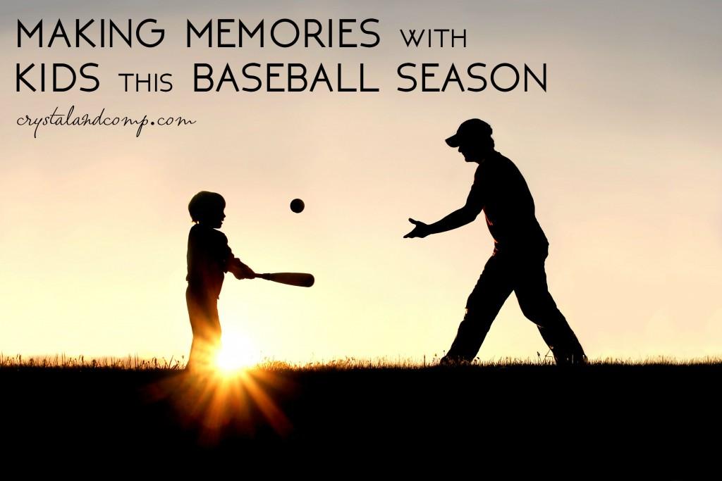 baseball season with kids