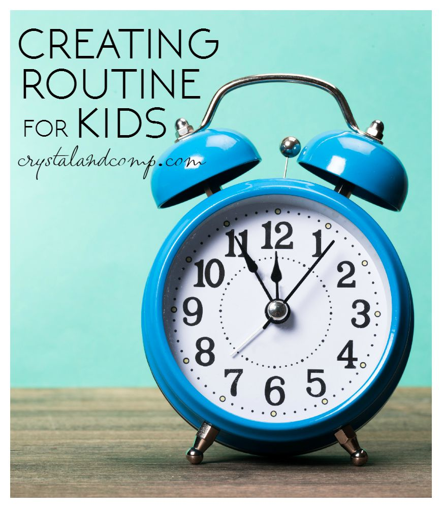 creating routine for kids