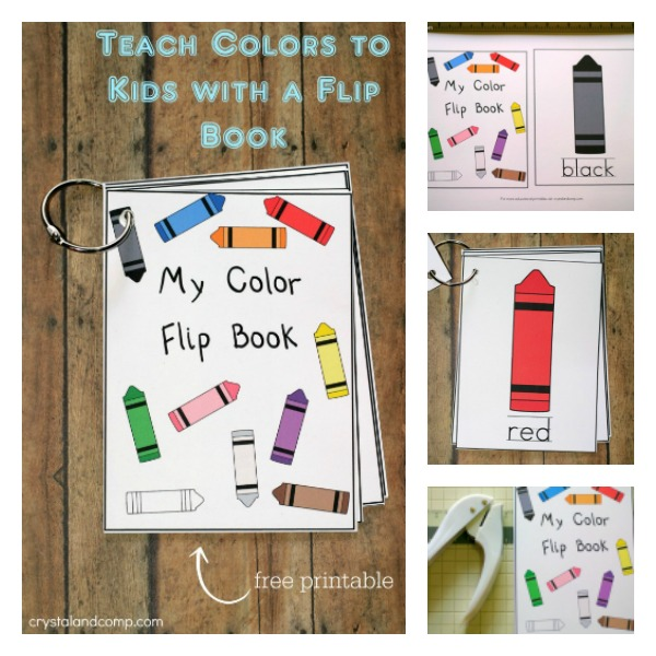 and now you have a flip book that will help you teach colors to kids