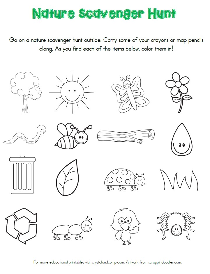 Zoo Scavenger Hunt Printable - M is for Monster! |Scavenger Hunt Printable Games Worksheets