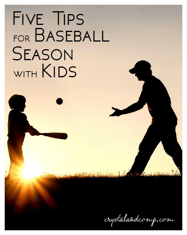tips for baseball season with kids