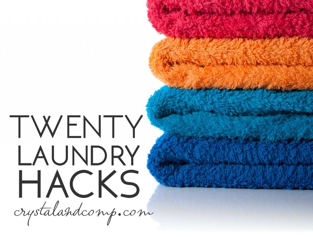 twenty laundry hacks