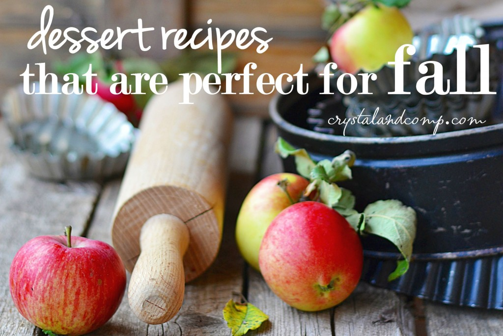 dessert recipes that are perfect for fall