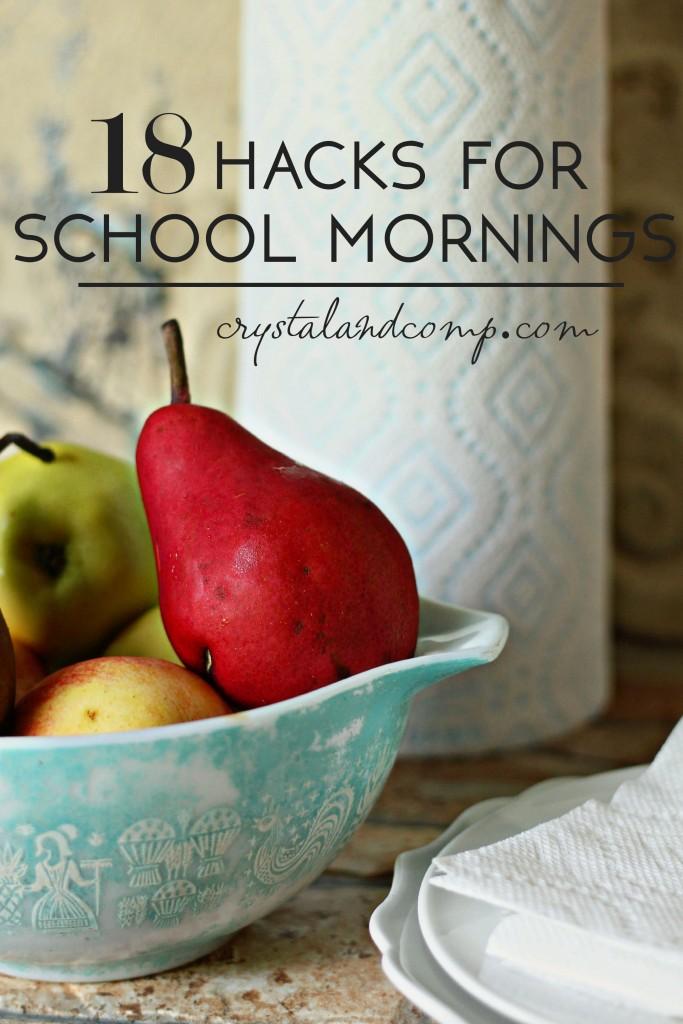 18 hacks for busy school mornings