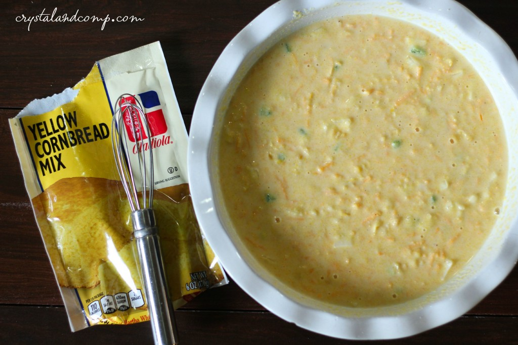 homemade cornbread using Martha White mix (1)