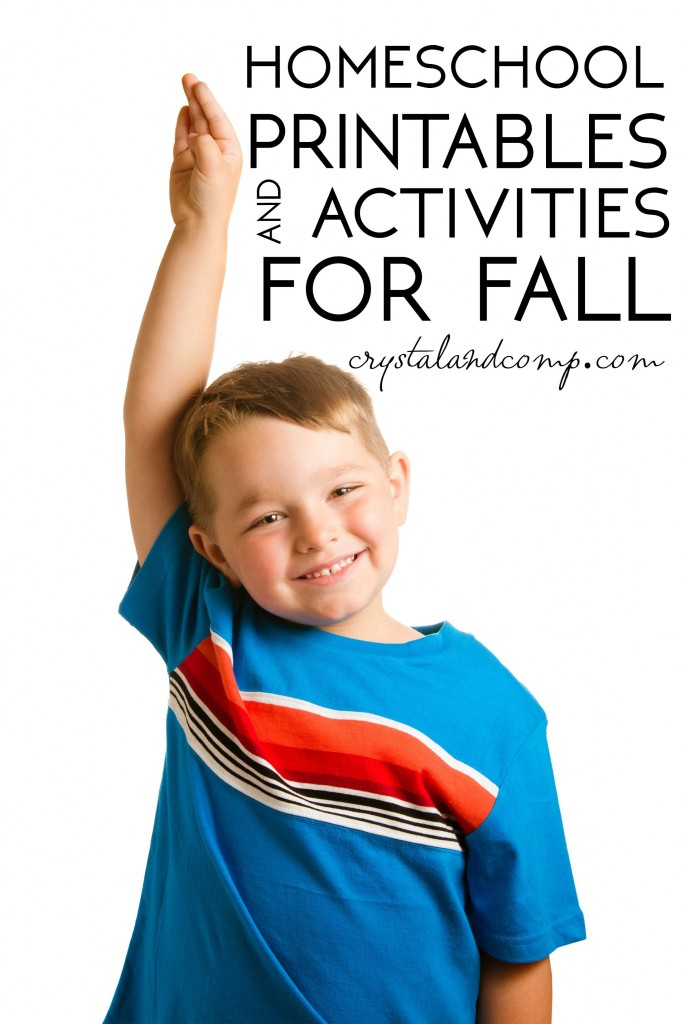 homeschool printables and activities for fall