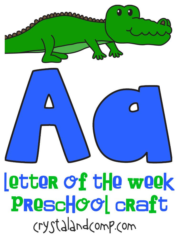 letter a preschool craft