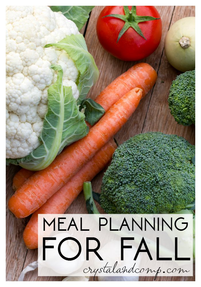 meal planning for fall