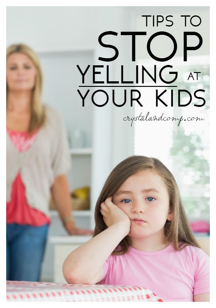 tips to stop yelling at your kids