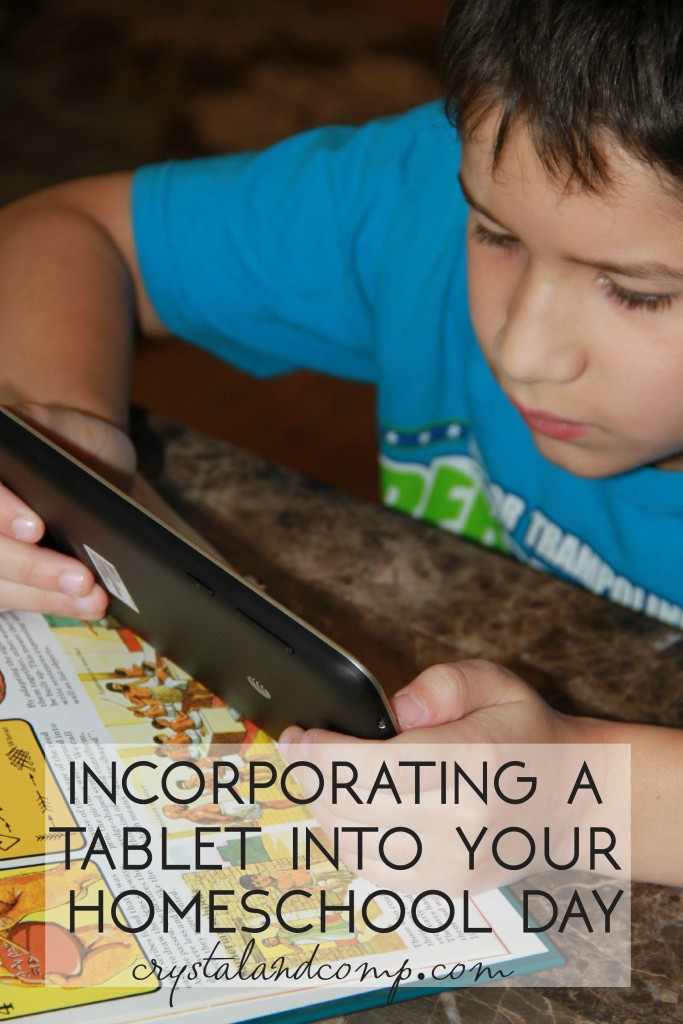 using a tablet in your homeschool teachings