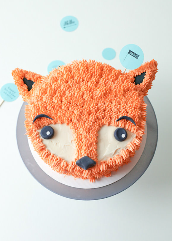 DIY Fox Cake Birthday