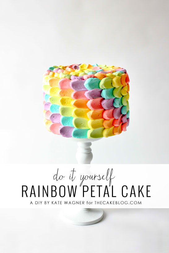 Do It Yourself Rainbox Petal Birthday Cake