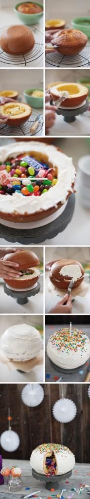 Pinata Cake How To