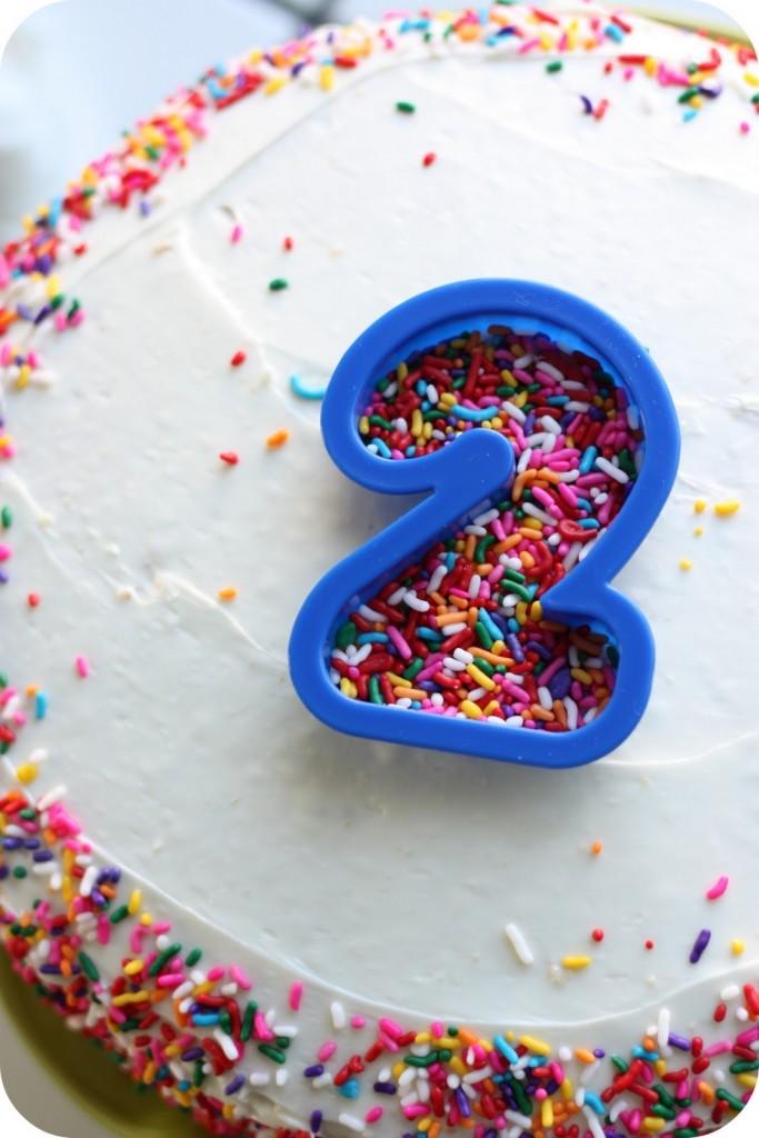 Sprinkle Number Birthday Cakes