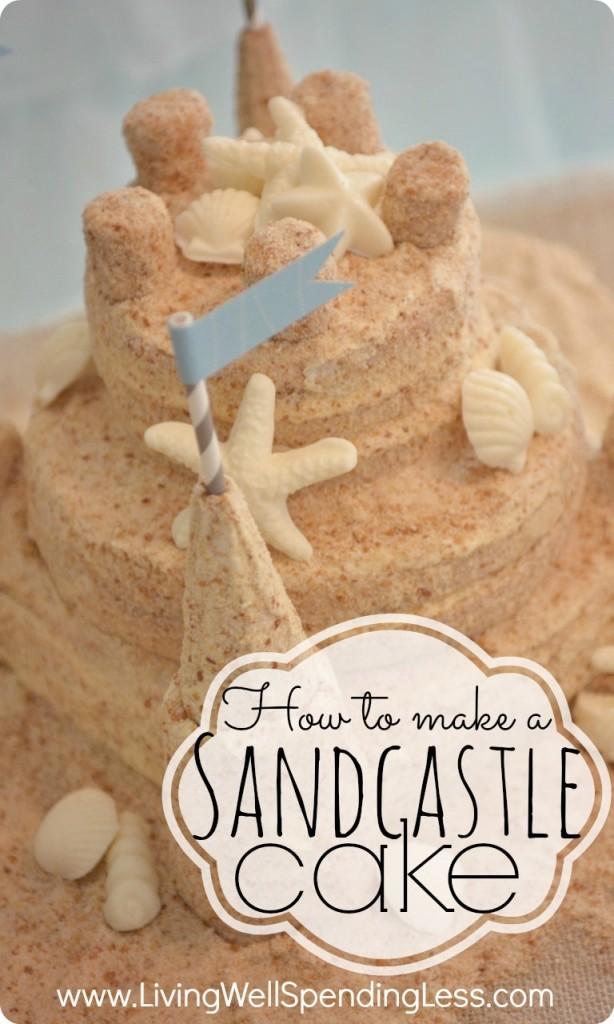 Sand Castle Birthday Cake Idea