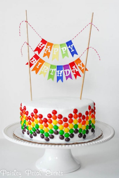 Chevron Candy Birthday Cake & 20 Birthday Cake Decoration Ideas | CrystalandComp.com