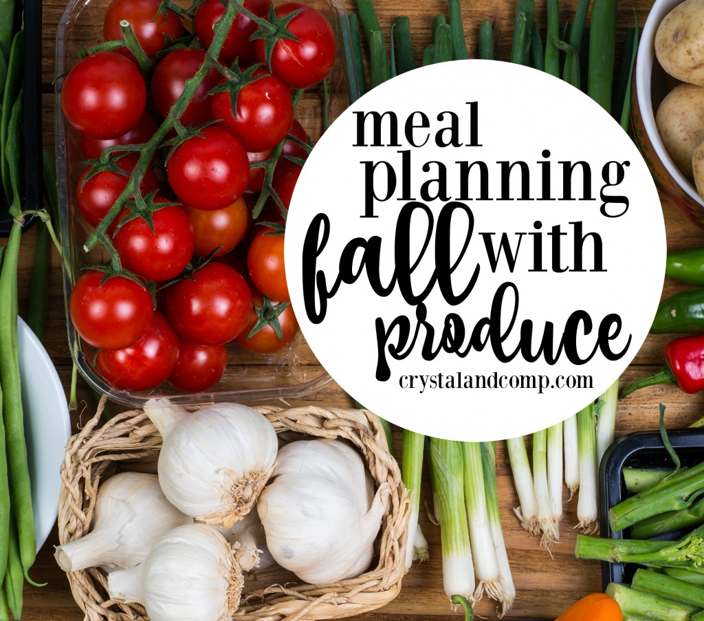 how to meal plan with fall produce