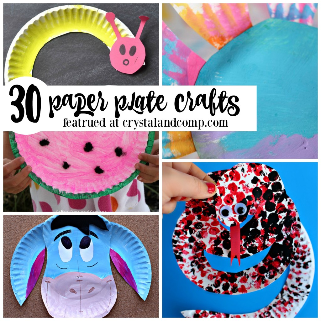 Paper plate crafts for kids for Easy things to make out of paper for kids