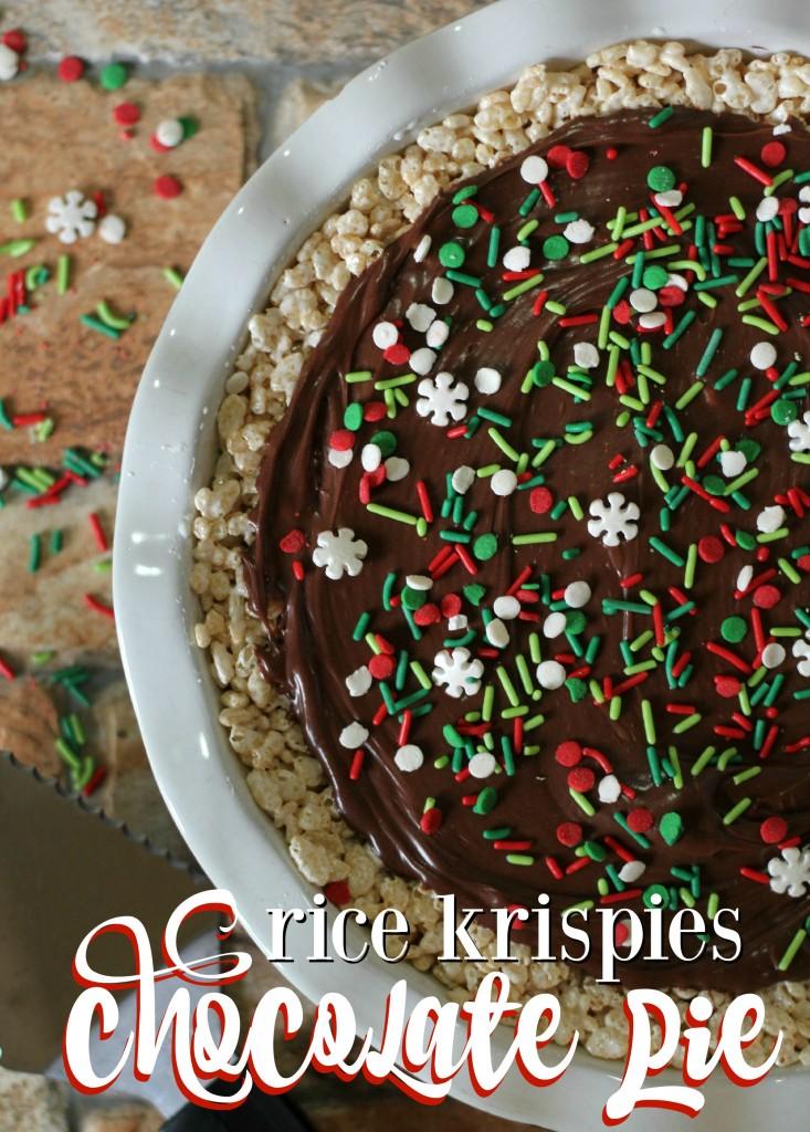 rice krispies chocolate pie