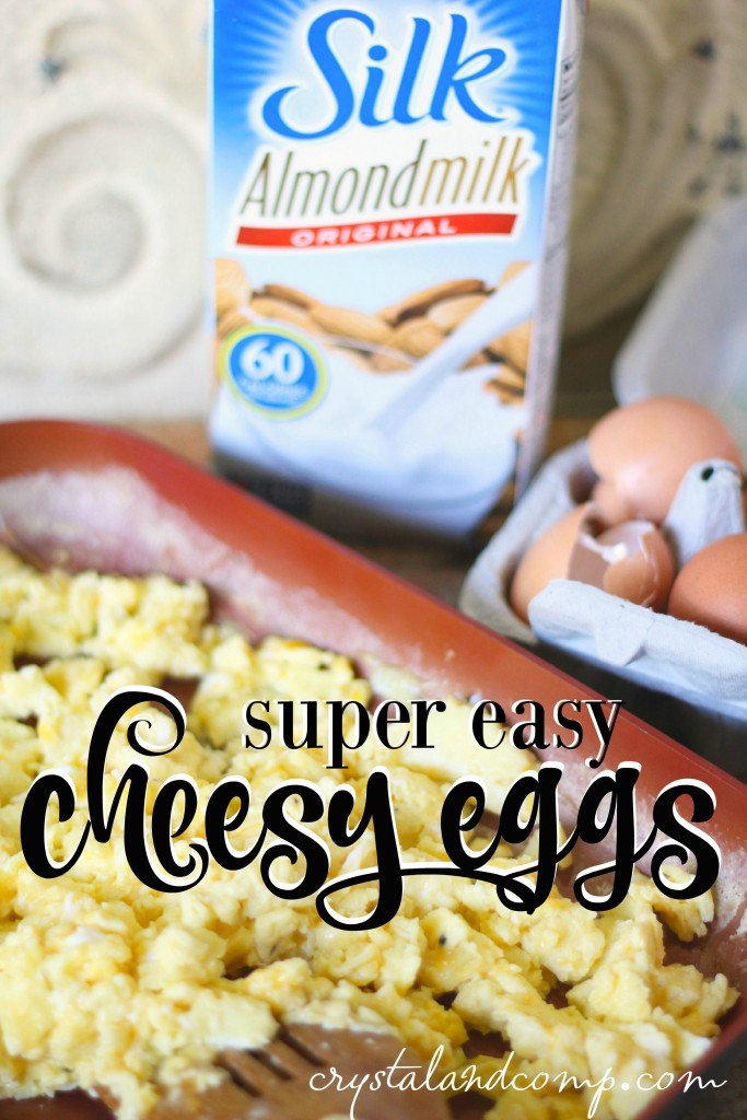 super easy cheesy eggs