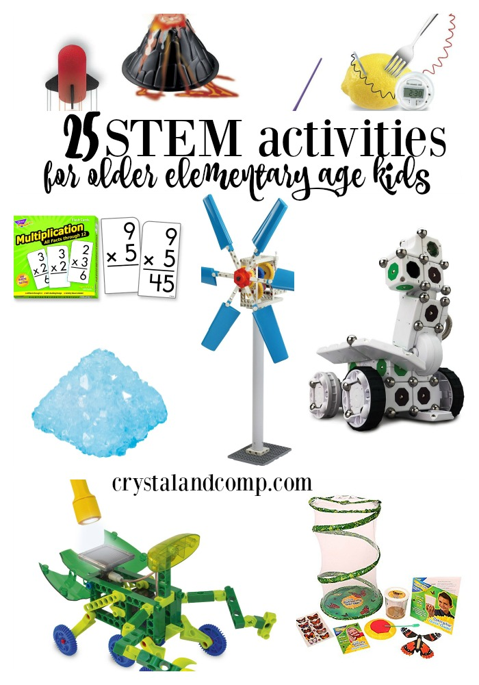 25 STEM ACTIVITIES for Older Elementary Age Kids