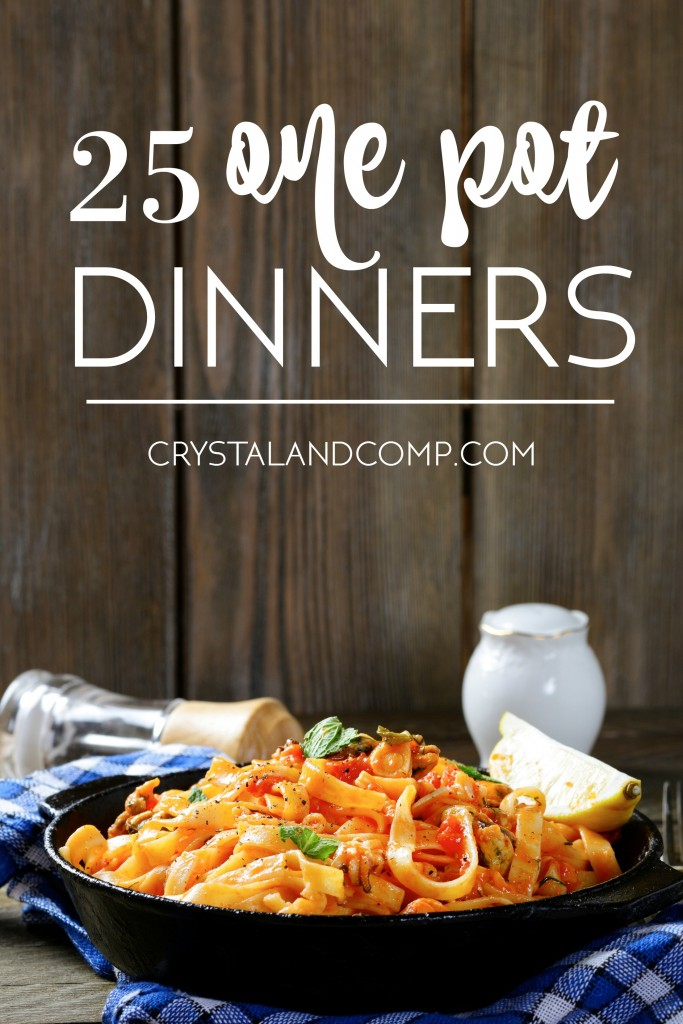 One pot pasta dinner crystalandcomp 25 one pot dinner for busy families forumfinder Image collections