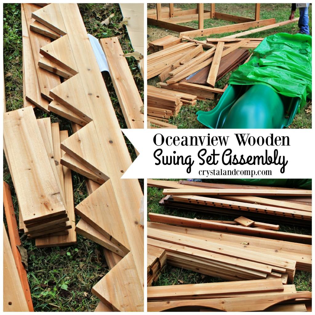 Oceanview Wooden Swing Set