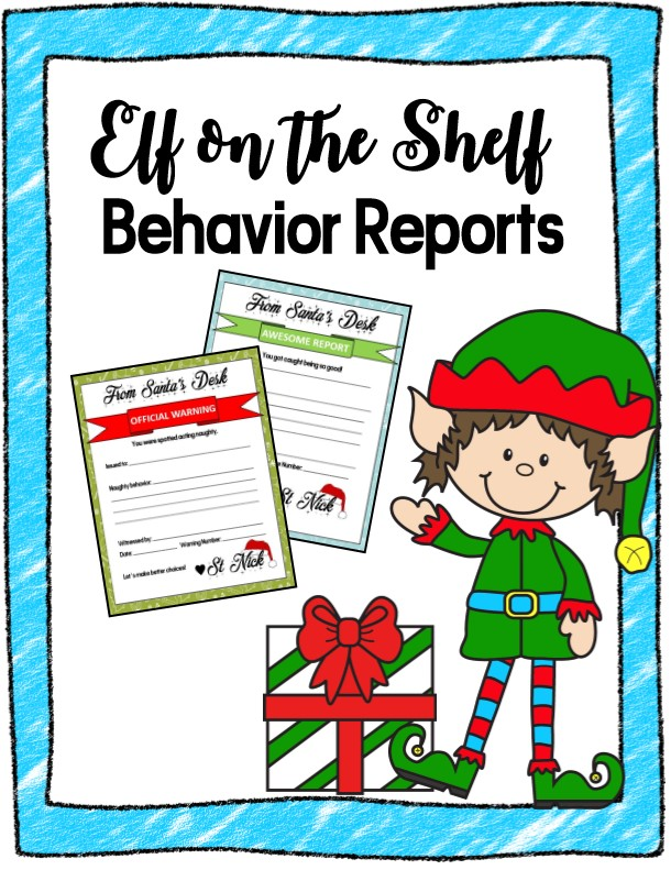 Comprehensive image in printable letters from elf on the shelf