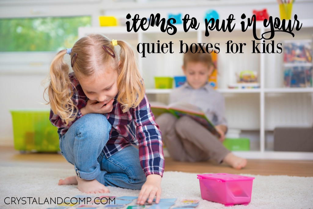 items to put in your quiet boxes for kids