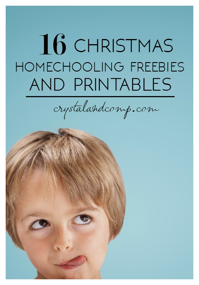 christmas homeschooling freebies