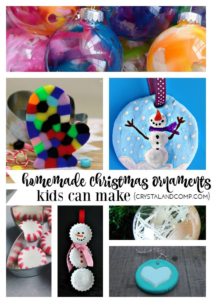 easy homemade Christmas ornaments kids can make
