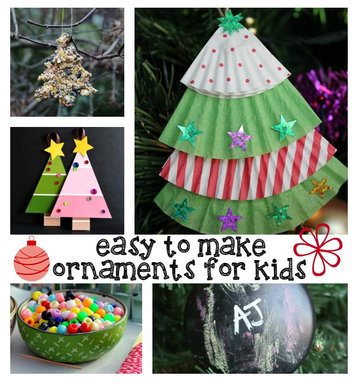 Easy homemade christmas ornaments for kids for Homemade christmas ornaments to make