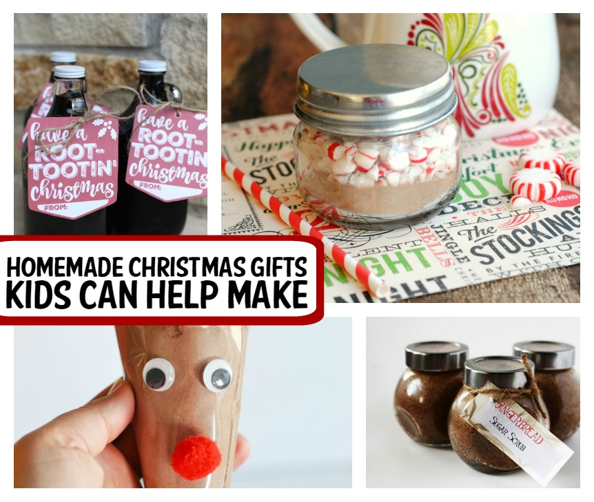homemade Christmas gifts kids can help make