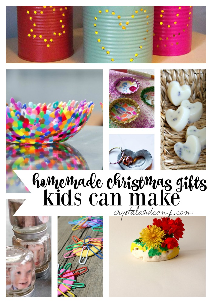 25 Homemade Christmas Gifts Kids Can Make | CrystalandComp.com