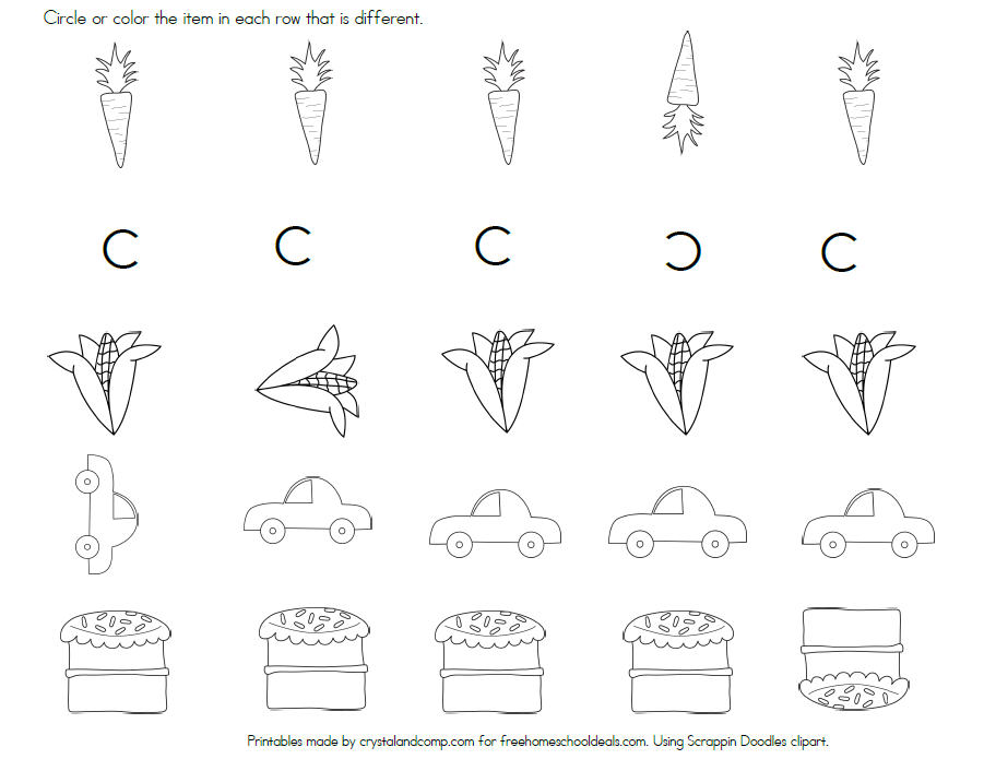 FREE Letter C Printables | Free Homeschool Deals ©