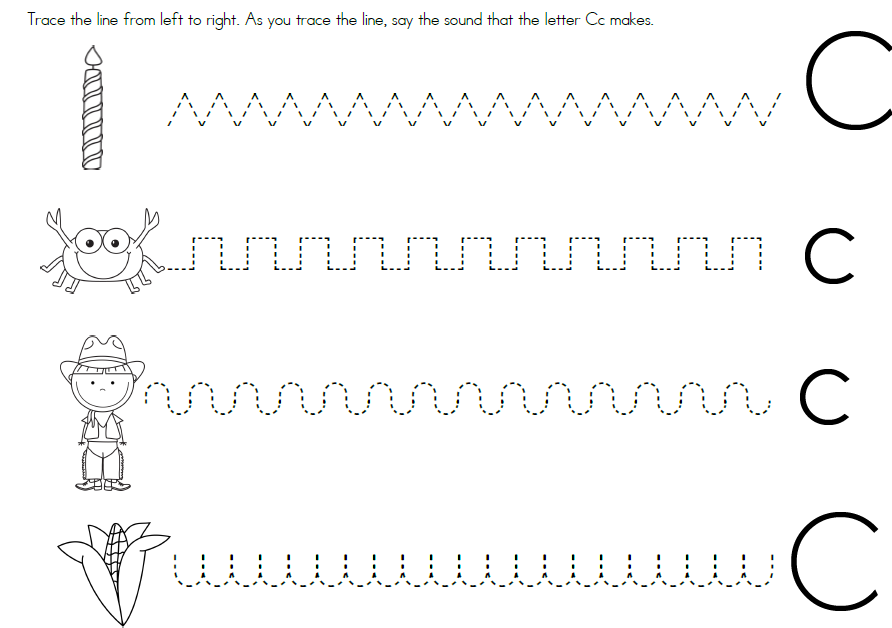 Preschool Worksheets For The Letter C - Worksheets