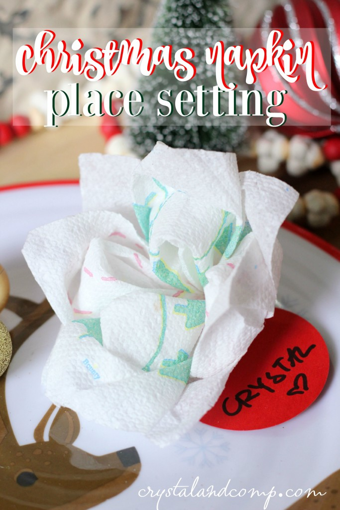 Paper napkin flowers paper napkin christmas place setting using bounty 1 mightylinksfo