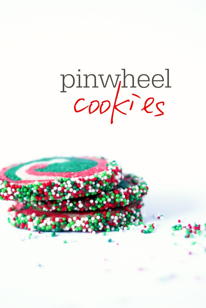 pinwheel red and green cookies